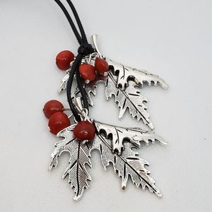 Leaves & Berries Necklace Beautiful Holiday Gift